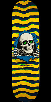 Powell Peralta Ripper Skateboard Yellow - 8.5 x 32.08