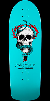 Powell Peralta Mike McGill Skull and Snake Turquoise Deck - 10 x 30.125