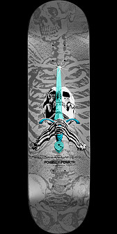 "Powell Peralta Ray Rodriguez Skull & Sword ""NOW""Silver Deck - 8.75 x 33.25"