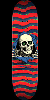Powell Peralta Ripper Skateboard Red - 8.25 x 31.95