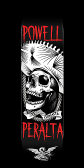 Powell Peralta Te Chingaste Skateboard White - 8.5 x 32.08