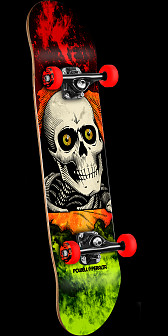 Powell Peralta Ripper Storm Complete Red/Lime - 8.25 x 32.375