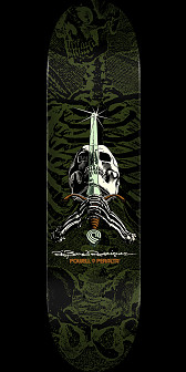 Powell Peralta Rodriguez Skull and Sword Skateboard Green - 9 x 32.95