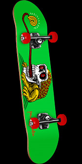 Powell Peralta Frog Skull Green Complete Assembly - 7.5 x 28.65