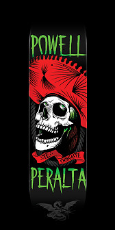 Powell Peralta Te Chingaste Skateboard Red - 8 x 31.45