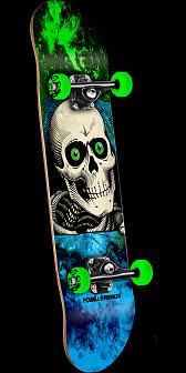 Powell Peralta Ripper Storm Skateboard Green/Blue - 7 x 28