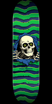 Powell Peralta Ripper Skateboard Green - 8.75 x 32.95