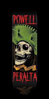 Powell Peralta Te Chingaste Skateboard Green - 8.25 x 32.5