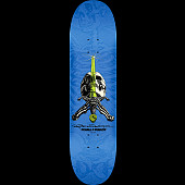 Powell Peralta Rodriguez Skull and Sword Skateboard Blue - 8 x 31.45