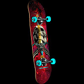 Powell Peralta Skull and Sword Cosmic Red Complete Assembly - 7.88 x 31.67