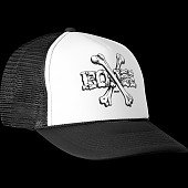 Powell Peralta Cross Bones Trucker Cap - Black/White
