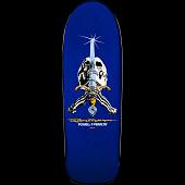 Powell Peralta Ray Bones Skull and Sword Blue Deck - 10 x 30