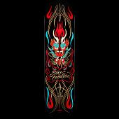 Powell Peralta Pro Steve Caballero Pinstripe Black Deck - 8.25 x 32.5