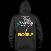 Powell Peralta Hooded Zip Sweatshirt Skateboard Skeleton Black