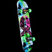 Powell Peralta Skull and Sword Complete Skateboard Tie Dye - 7.5 x 31.375