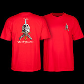 Powell Peralta Skull & Sword T-shirt - Red