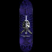 Powell Peralta Rodriguez Skull and Sword Skateboard Purple - 8.5 x 32.08
