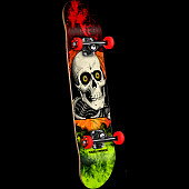 Powell Peralta Ripper Storm complete Red/Lime - 7.5 x 28.65