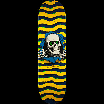 Powell Peralta Ripper Skateboard Yellow - 8.5 x 33.5