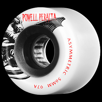 Powell Peralta Asymmetric Wheel 56mm 97a White4pk