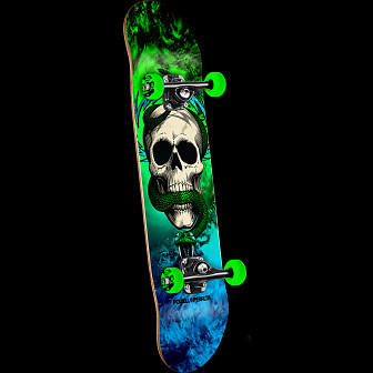 Powell Peralta Skull and Snake Storm Complete Blue/Green - 7.625 x 31.625