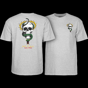 Powell Peralta Mike McGill Skull & Snake  T-shirt - Gray