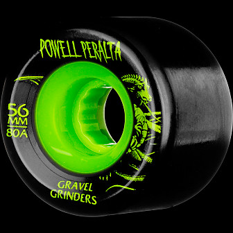 Powell Peralta Gravel Grinders 56mm 80a Wheels Green 4pk