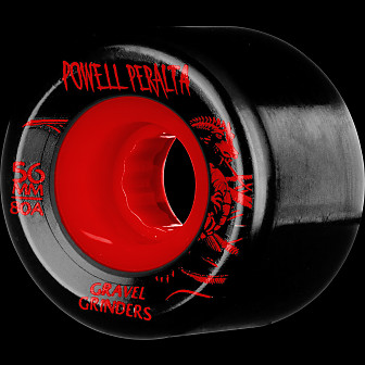 Powell Peralta Gravel Grinders 56mm 80a Wheels Red 4pk