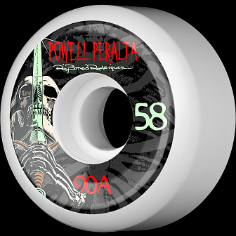 Powell Peralta Rodriguez Skull and Sword Wheel 58mm 90a 4pk