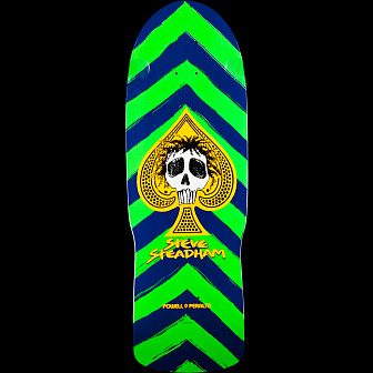 Powell Peralta Steadham Skull and Spade Deck Green/Navy - 10 x 30.125