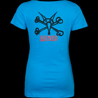 Powell Peralta Woman's T-Shirt Vato Rat Turquoise