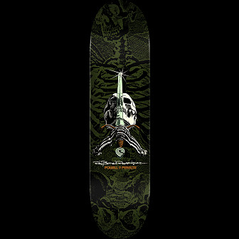 Powell Peralta Rodriguez Skull and Sword Skateboard Green
