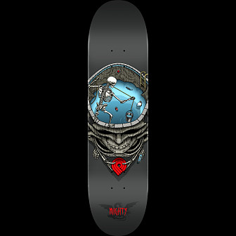 Powell Peralta Pro Mighty Pool Skateboard Gray - 8.5 x 33.5