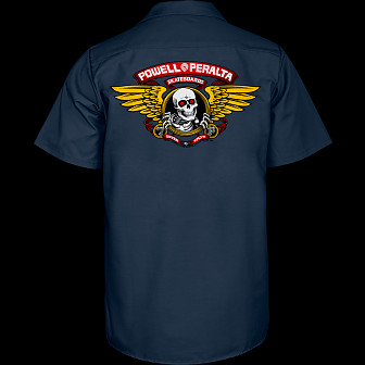 Powell Peralta Winged Ripper Work Shirt - Navy