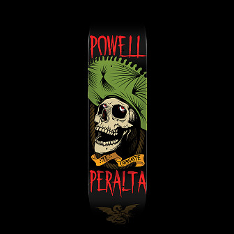 Powell Peralta Te Chingaste Skateboard Green - 8.25 x 32.5