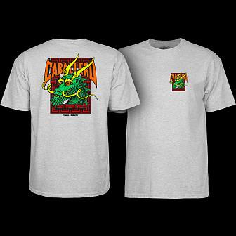 Powell Peralta Steve Caballero Street Dragon T-shirt Grey