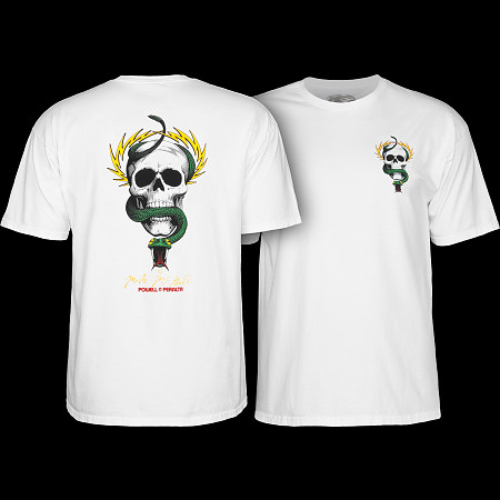 Powell Peralta Mike McGill Skull & Snake  T-shirt - White