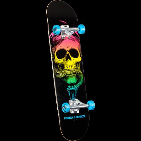 Powell Peralta Skull & Snake Complete Skateboard Blue - 7.625 x 31.625