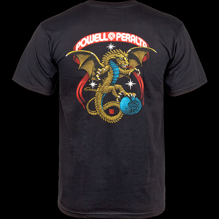 Powell Peralta Galactic Dragon T-shirt - Black