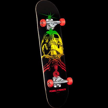 Powell Peralta Skull & Sword Complete Skateboard Red - 7.5 x 31.375