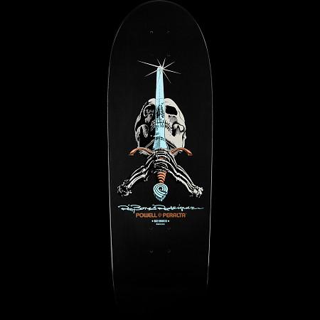 Powell Peralta Rodriguez Skull and Sword Deck Gunmetal - 10 x 30
