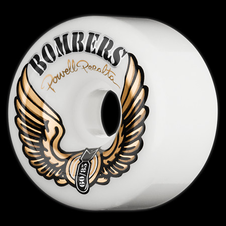 Powell Peralta Bombers 60mm 85a - White (4 pack)