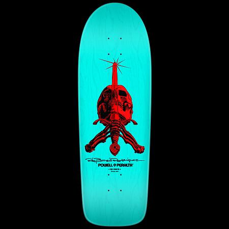 Powell Peralta Rodriguez Skull & Sword Deck Light Blue - 10 x 30