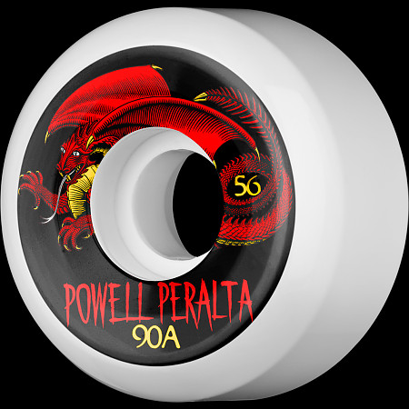 Powell Peralta Oval Dragon 56mm 90a - White (4 pack)