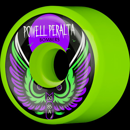 Powell Peralta Bomber Wheel 3 Green 60mm 85a 4pk
