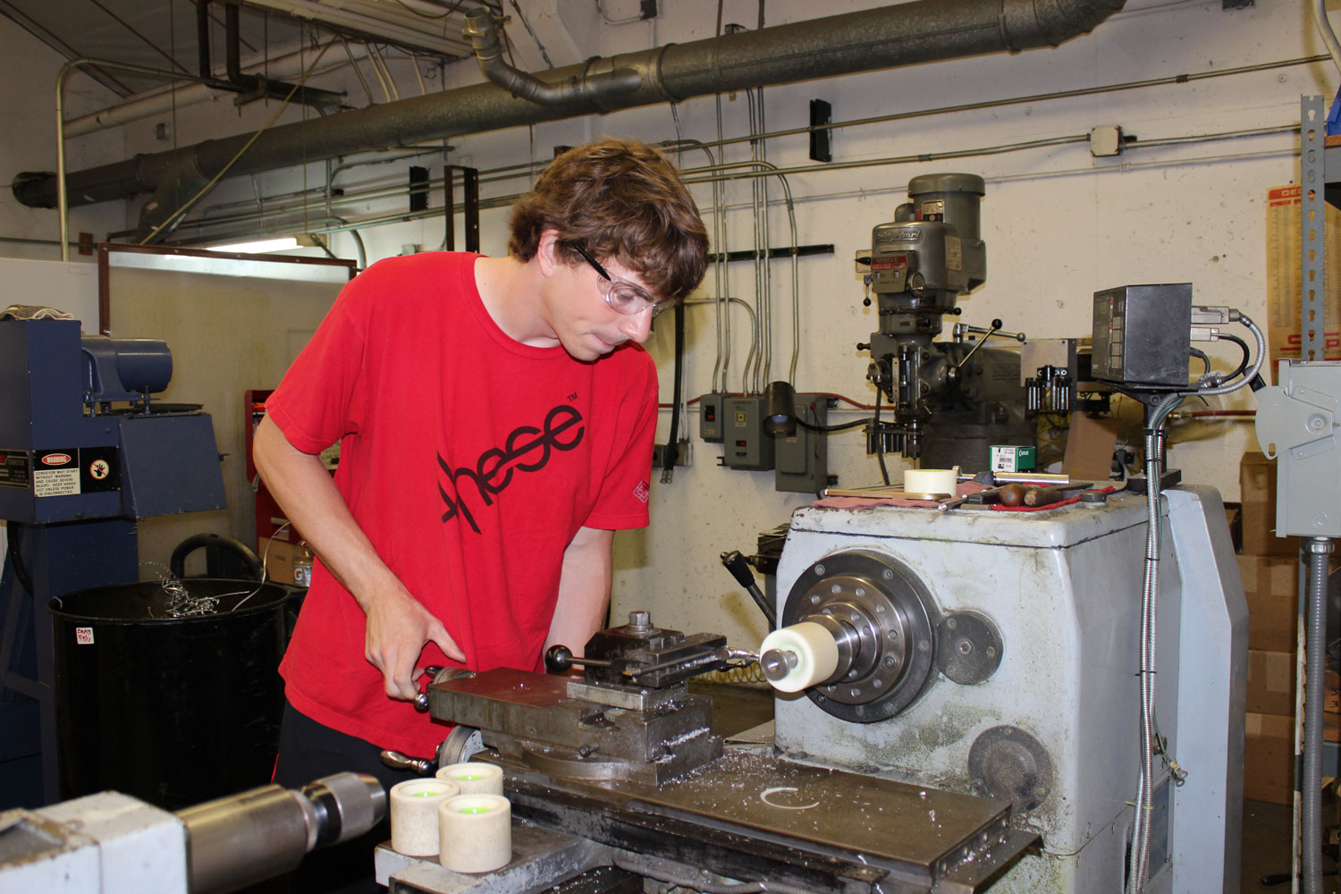 Kevin Reimer on the Lathe